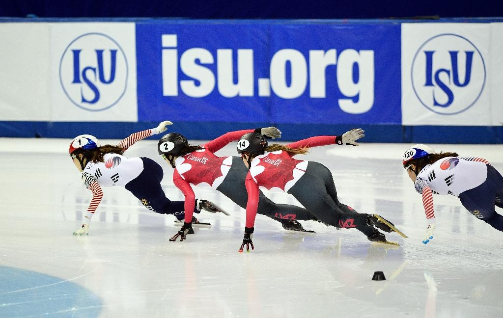 """The ISU said the doping controversy """"would have made it impossible to truly appreciate [Russia's] efforts"""" to host the speed skating World Cup (AFP Photo/Johannes EISELE)"""