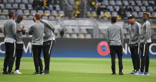 Foot - C1 - Les Monégasques à l'entraînement à Dortmund