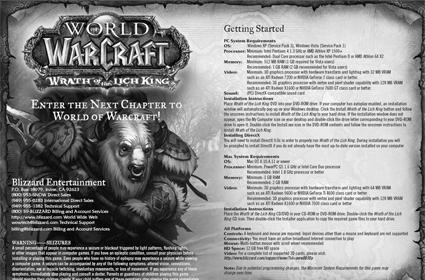 Wrath of the Lich King manual discovered in WoW patch