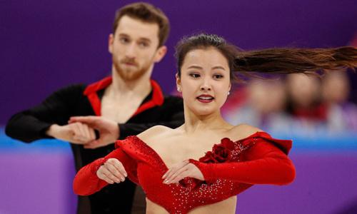 【平昌冬奧】韓裔選手紅色戰衣突然鬆脫,從容戰到最後贏掌聲
