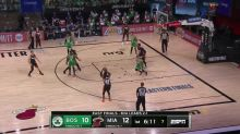 Jae Crowder with a 3-pointer vs the Boston Celtics