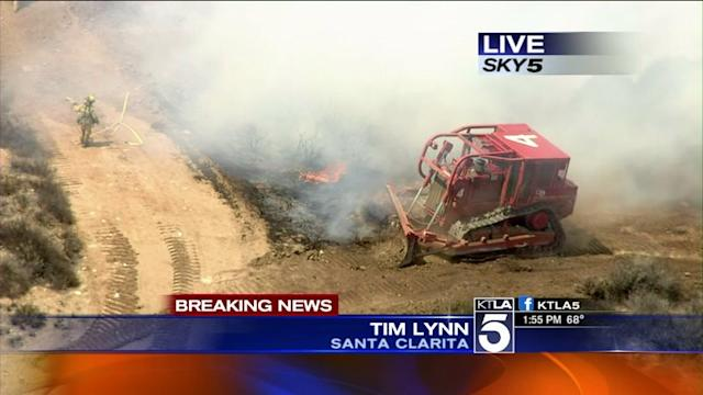 Brush Fire Burning in Santa Clarita