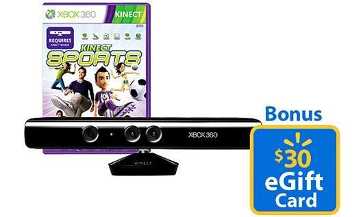 Walmart offering $200 Kinect bundles, includes game and gift card