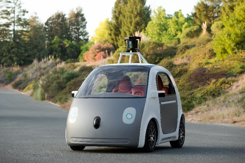 A self-driving, two-seater prototype vehicle conceived and designed by Google (AFP Photo/)