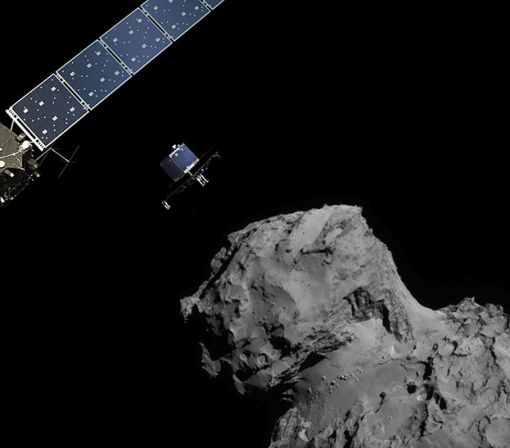 A landslide may have caused this brilliant comet outburst captured by Rosetta