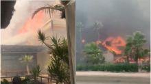 Blaze tears across popular tourist resort on Costa del Sol leaving shops and restaurants devastated