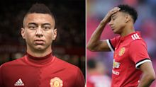 Manchester United star Jesse Lingard is not happy with his appearance in FIFA 19