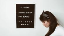 Mom shares reality of pregnancy week by week in hilarious pictures
