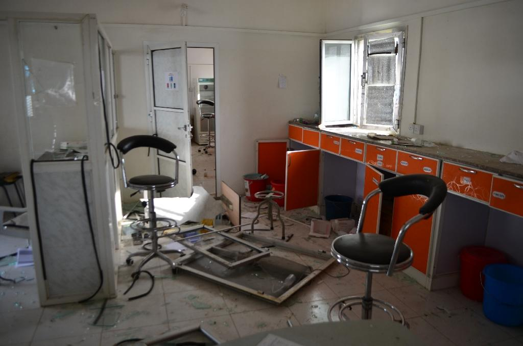MSF said the hospital in Abs was identifiable by its logos, and its GPS coordinates had been provided to coalition authorities before the attack (AFP Photo/)