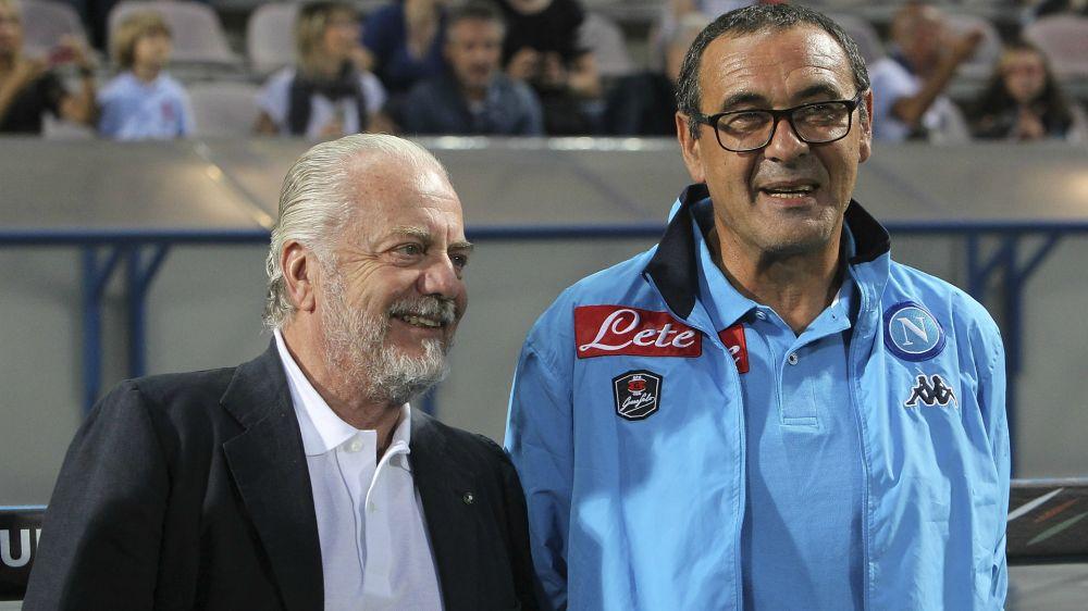 """De Laurentiis al Napoli: """"La parola Scudetto si può pronunciare"""""""