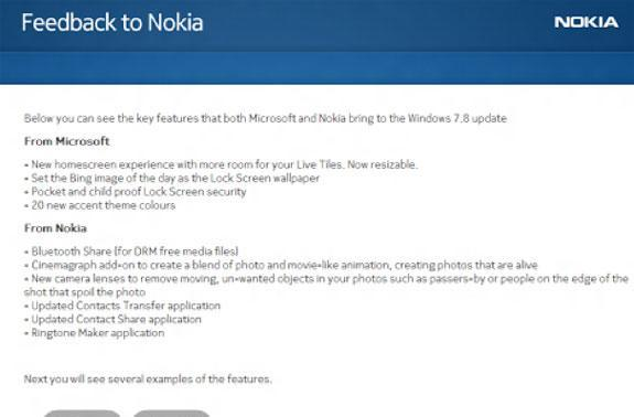 Nokia survey may shed some light on upcoming Windows Phone 7.8 features