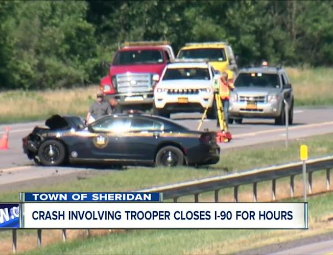 Trooper-involved crash shuts down New York State Thruway in Western New  York for hours