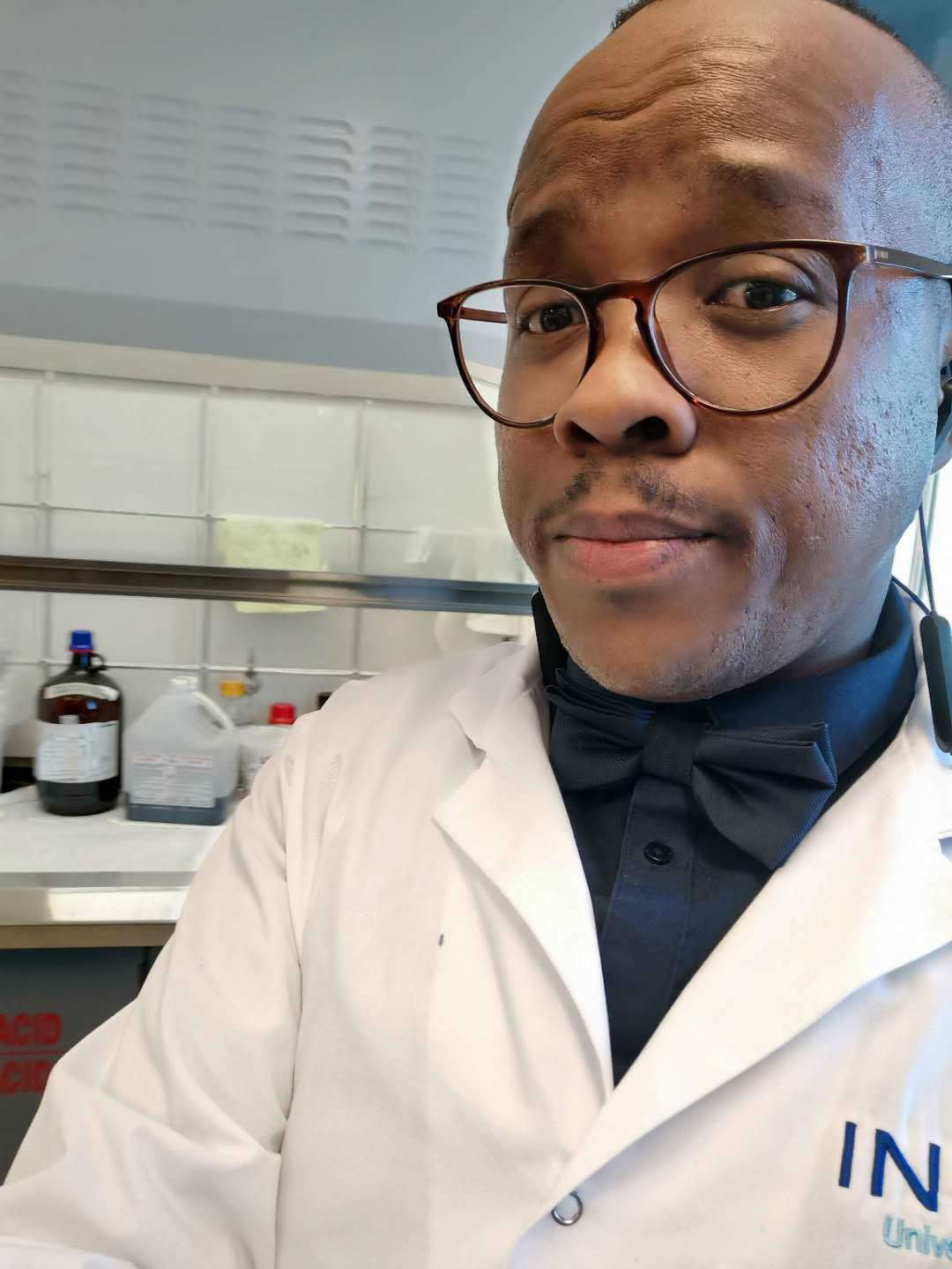 This 2019 photo provided by Itumeleng Moroenyane shows him in Laval, Quebec, Canada. Moroenyane, a doctoral student at the National Institute of Scientific Research in Quebec, grew up in post-apartheid South Africa and says he was the only Black botany student in his university's graduating class. He now makes it a priority to mentor younger Black scholars. (Itumeleng Moroenyane via AP)
