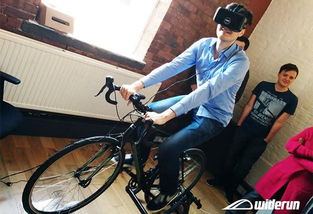 Widerun turns your bike into a virtual reality machine