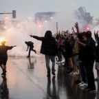 George Floyd: Tear gas and angry scenes as protesters take to Minneapolis streets following death of unarmed black man