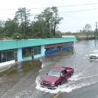 Florence flooding: Drone footage shows hurricane damage in Wilmington area
