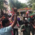 BJP Supporters Celebrate Projected Modi Victory in Bengaluru