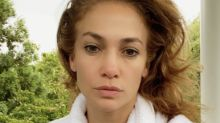 Jennifer Lopez shares stunning makeup-free selfie wearing a white bathrobe