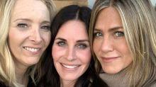 'Friends': Así fue el reencuentro de Courteney Cox con Jennifer Aniston y Lisa Kudrow