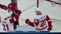 Drew Miller buries one-timer from Tomas Tatar