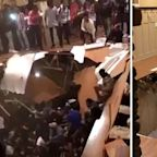Moment floor collapses during house party captured in shocking video