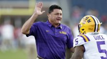 LSU coach Ed Orgeron says report of conversation about Derrius Guice allegation is 'not accurate'