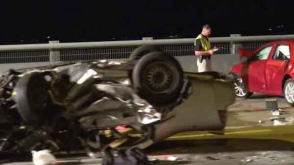 1 dead, 4 hurt in wrong-way crash on Tappan Zee Bridge