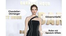 Look des Tages: Lily James im schwarzen Sanduhr-Kleid