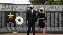 Joe Biden makes first public appearance since March