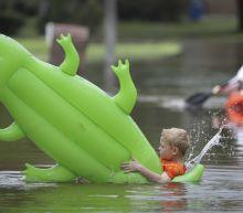 Beta continues slow trek, bringing rain to several states