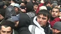 Raw: Demonstrators Clash in Ukraine
