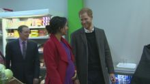 Prince Harry and Meghan visit community supermarket