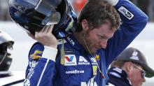 Dale Earnhardt Jr. would like winning cars to stop blowing out tires in burnouts
