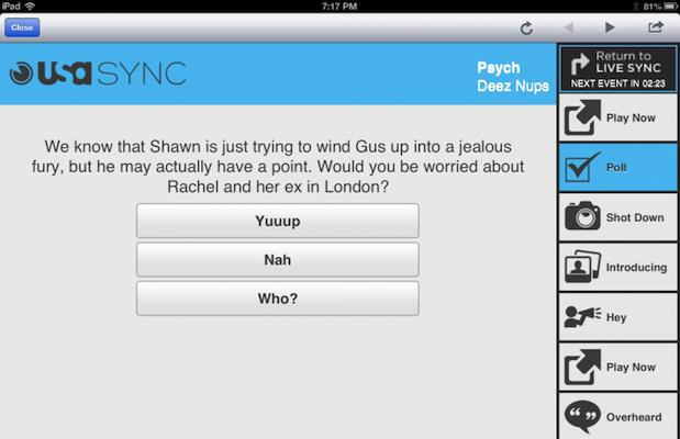 NextGuide iPad app update adds second-screen content for USA Network