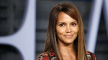 Halle Berry rocks a wet T-shirt — and no bra — for her 53rd birthday