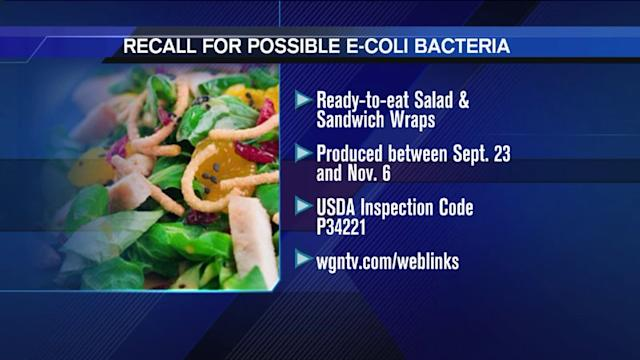 California company to recall thousands of pounds of food