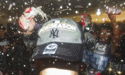 洋基取得季後賽門票。 美聯社