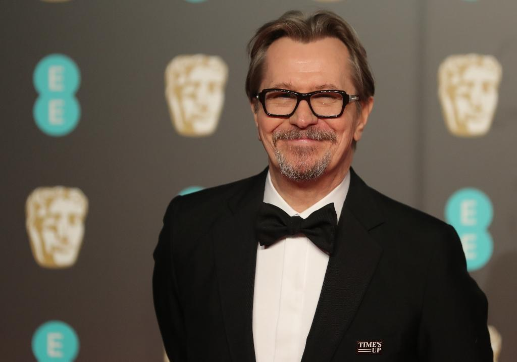 "Gary Oldman's turn as Churchill in ""Darkest Hour"" has so far won him a Golden Globe, a Bafta and the chance of an Oscar on March 4 (AFP Photo/Daniel LEAL-OLIVAS)"
