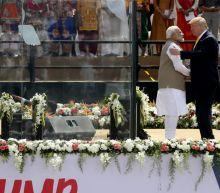 Trump fumbles his pronunciation of several Indian names and a Hindi word at India speech