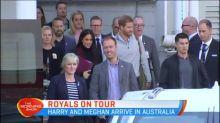 Harry and Meghan arrive in Australia