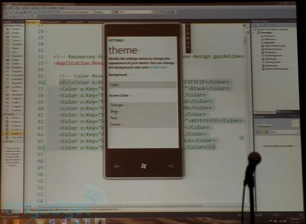 Windows Phone 7 Series will have themes... sort of