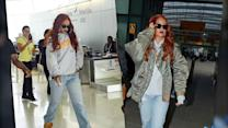 Rihanna Chooses Laid Back Look For Journey To London