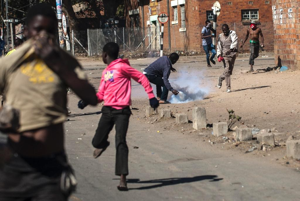 Demonstration reveal the long-bubbling frustration normally kept under strict control by President Robert Mugabe's ruthless security forces (AFP Photo/)