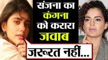 Dil Bechara actress Sanjana Sanghi gives befitting reply to Kangana for Sushant Singh