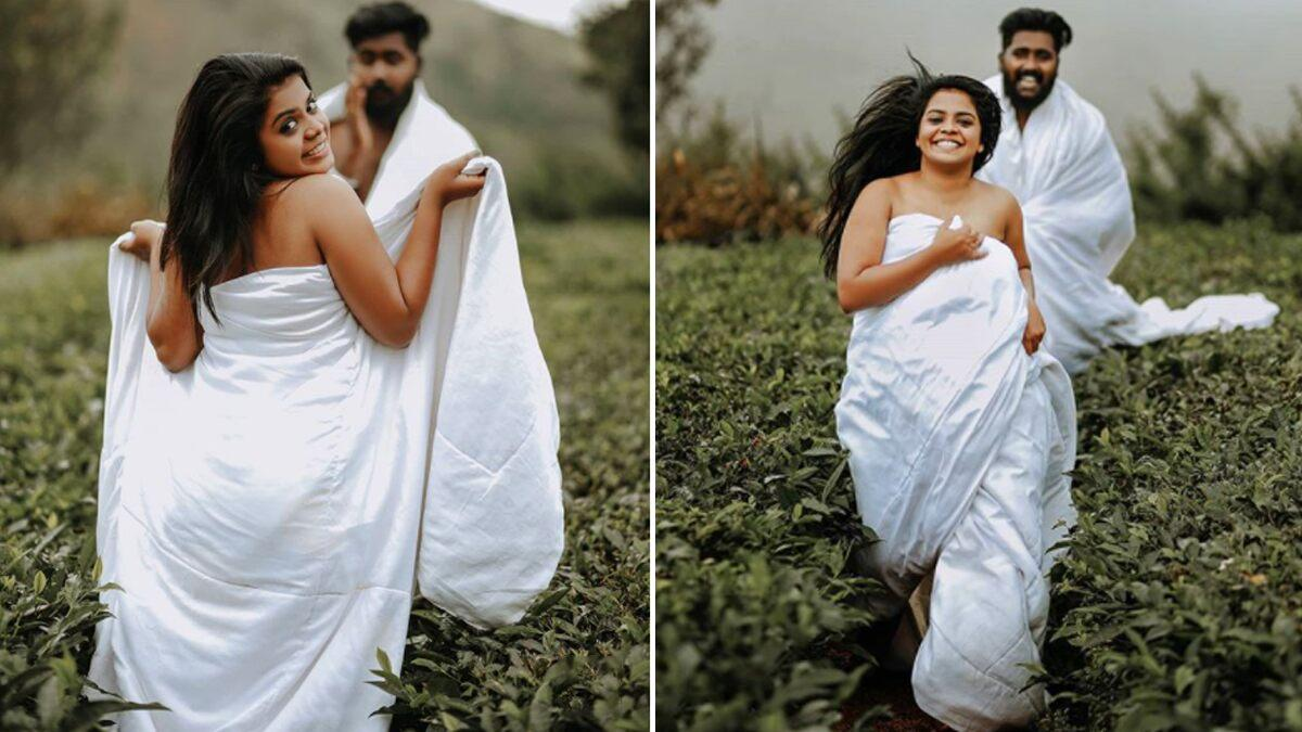 Kerala Couple S Intimate Post Wedding Photoshoot Abused By Moral Police Online The Newly Weds Say Showing Legs Does Not Qualify As Nudity See Pictures