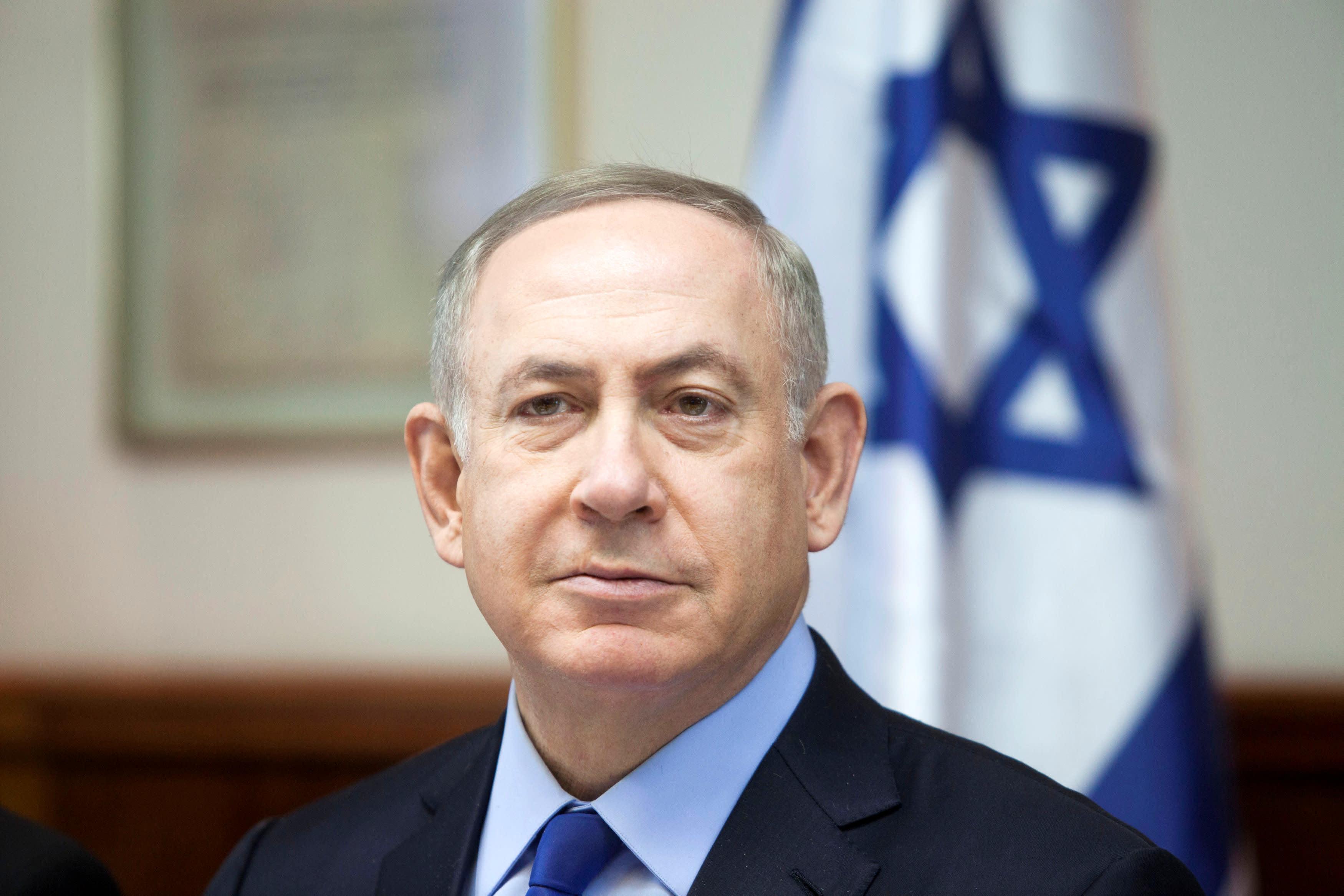 Israeli Prime Minister Benjamin Netanyahu attends the weekly cabinet meeting at his Jerusalem office December 25, 2016. REUTERS/Dan Balilty/Pool