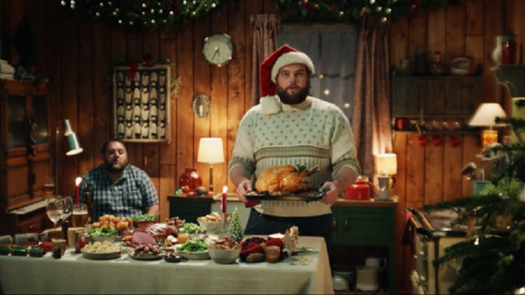 Tesco Christmas ad forgives 'naughty' behaviour during the pandemic