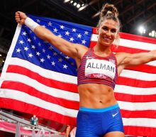 Former dancer Valarie Allman wins U.S. first Olympic track gold in Tokyo