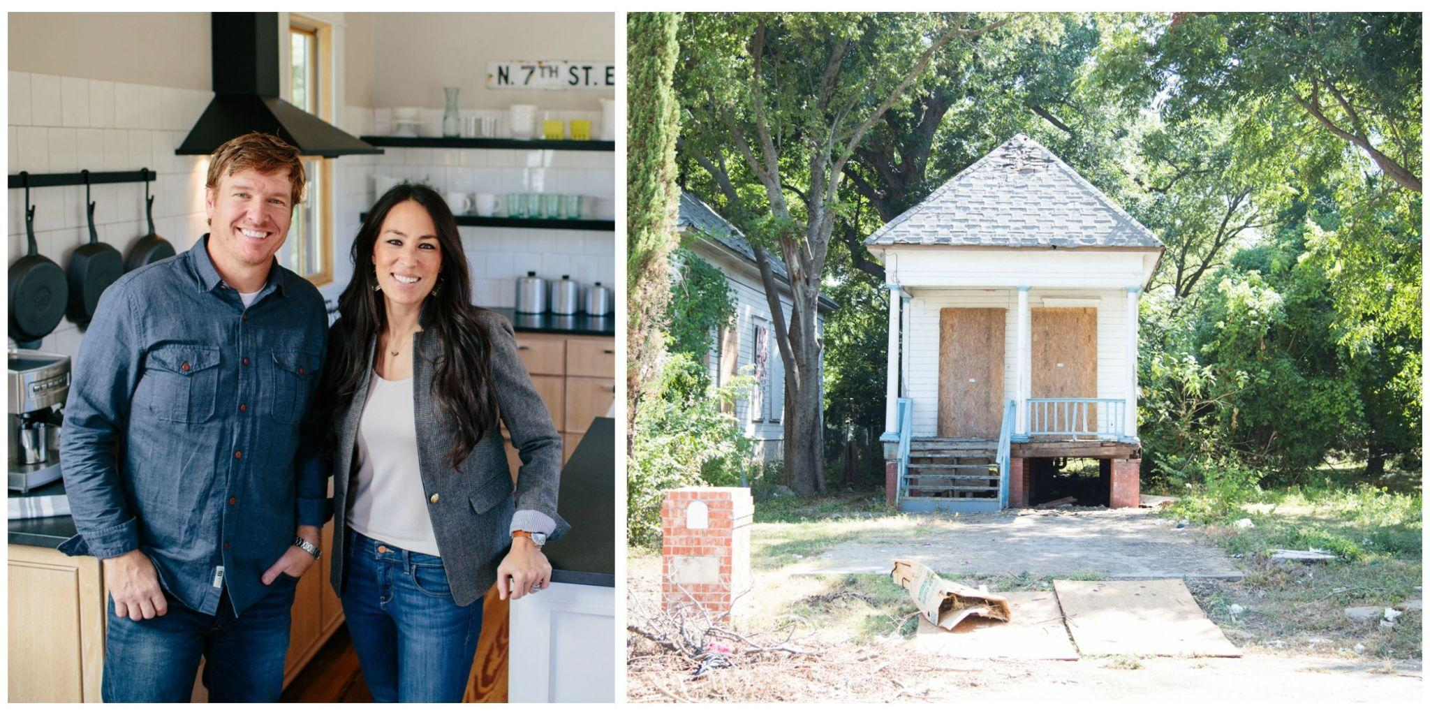 wait until you see how chip and joanna transformed waco 39 s last shotgun house. Black Bedroom Furniture Sets. Home Design Ideas