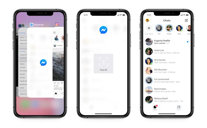 """Facebook Messenger's """"app lock"""" feature is official on iOS and will be on Android """"soon."""""""